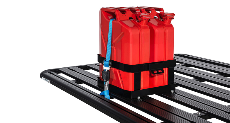 Rhino 43151 Double Vertical Jerry Can Holder Roof Rack World
