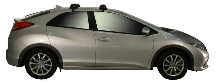 Honda Civic 4dr Sedan 9th Gen 02 12on Whispbar Roof Racks