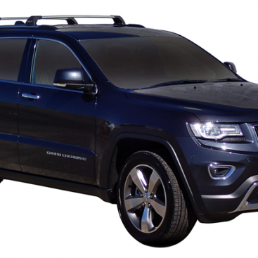 Jeep Grand Cherokee 4dr With Chrome Roof Rails WK2 02/11on Whispbar Roof  Racks (pr)   Roof Rack World