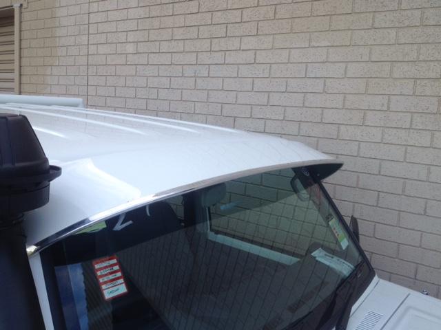 Solid Windscreen Sunvisor Toyota Land Cruiser Ute Dual