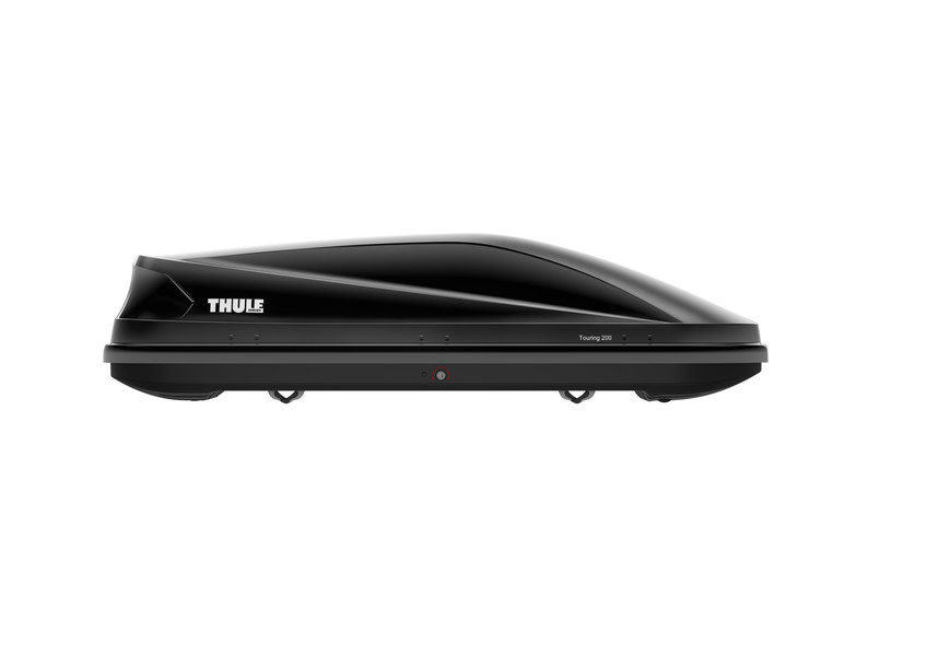 thule 634701 touring 700 alpine black luggage box 430. Black Bedroom Furniture Sets. Home Design Ideas
