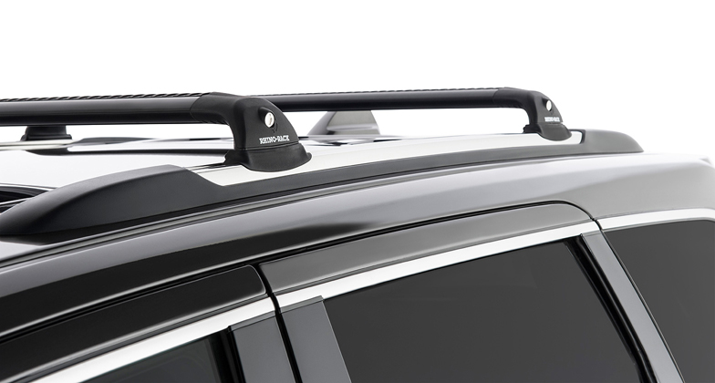 jeep grand cherokee 4dr 4wd with chrome roof rails wk2 02 11on rhino vortex roof racks pr. Black Bedroom Furniture Sets. Home Design Ideas