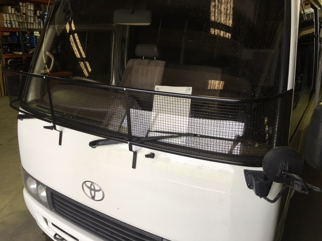 Stone Guard Toyota Coaster Bus 1993 2017 Black Mesh
